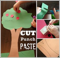 7 Fall Fine Motor Activities for Kids Including Apple Tree from Lalymom repinned by @PediaStaff – Please Visit  ht.ly/63sNt for all our pediatric therapy pins