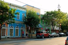 Richmond Carytown neighborhood. Eclectic shops, and a wonderful diner that serves fried pickles!