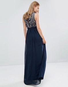 Maya Delicate Maxi Dress with Embellished Back