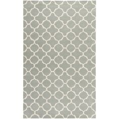 """Handmade Thick-Pile Moroccan Gray Wool Rug (8'9"""" x 12') 
