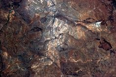 This cave painting is, in fact, raw geology in central South Africa.
