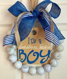 It's a boy golf wreath