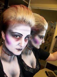 Halloween make up.