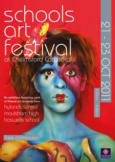 Poster for Chelmsford Cathedral Student Art Festival 2011