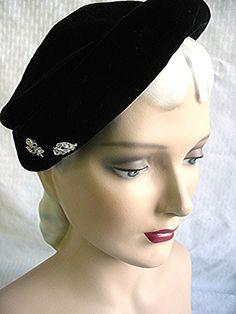 cfca4e151a16 Vintage 1950s Cocktail Hat 50s Velvet Beret Style by bonitalouise 1950s  Hats, Cocktail Hat,