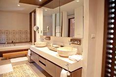 Bath Room area in One Bedroom Family Suite Garden View ,Sri Panwa, Luxury Pool Villa Hotel. Phuket,Thailand