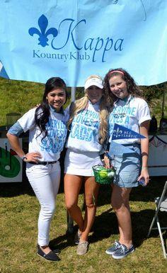 Kappa Kountry Klub, philanthropy, boys play golf and we kady?