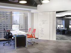 love the dual purpose of the sliding doors. KIXEYE SF 66 700x525 Inside Kixeyes San Francisco Gaming Headquarters