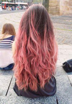 Inspiring Pastel Hair Color Ideas – My hair and beauty Curls For Long Hair, Short Curly Hair, Curly Hair Styles, Black Hair Ombre, Purple Hair, Brown Curls, Brown Hair, Dip Dye Hair, Caramel Hair