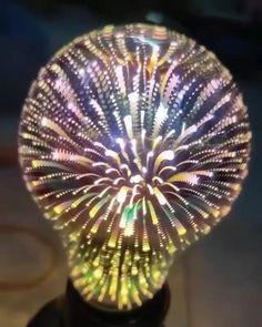 Bulbright 1 Pack LED Vintage Edison Bulb, A19 3W, Fireworks Filament Bulb 3D Colorful Lamp Bulb, 300 Lumen, 2700K (Warm White), Decorative Light Bulb, Medium Base E26, 110-120v Hanging Patio Lights, Patio Lighting, Modern Lighting, Lighting Design, Lamp Bulb, Led Lamp, Best Amazon Products, Light And Space, Modern House Design