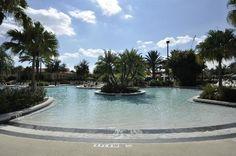 Zero entry pool at River Island pool.  Holiday Inn Club Vacations Orange Lake Resort, Kissimmee/Orlando.