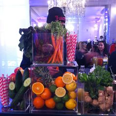 A Juicy Couture juice bar