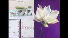 ManosalaObraTv 2018 Programa 2 - Pintar al Oleo - Bullet Journal - Pintu. Glass Vase, Bullet Journal, Monitor, Yoga, Tv, Videos, Frases, Drawing Techniques, Tutorials