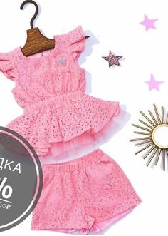 Bluss y short de niña Baby Girl Fashion, Toddler Fashion, Kids Fashion, Sewing Kids Clothes, Baby Sewing, Baby Kind, Cute Baby Girl, Little Girl Dresses, Girls Dresses