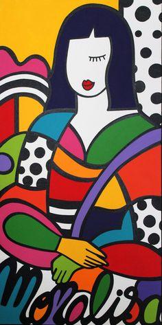 Come explore Virginia Benedicto's best artworks on Artsper. Mona Lisa Drawing, Mona Lisa Artist, Appropriation Art, Tableau Pop Art, Abstract Face Art, Animal Art Projects, Vaporwave Art, Modern Pop Art, Arte Pop