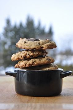 Salted Caramel Chocolate Chunk Cookies    - via nwbutter.com