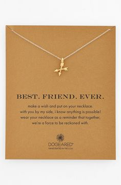 Letting the BFF know what she means to you with this delicately handcrafted necklace with a pair of teeny, united arrows at the center.