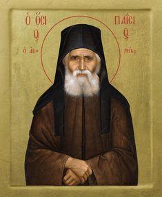 Saint Paisios of Mount Athos Orthodox icon GOLD LEAVES 22k image 0