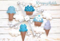 Baby+mobile,+nursery+mobile,+ice+cream+mobile+von+KarapuzMobile+auf+DaWanda.com