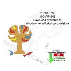 05-WP-243 - Puzzle Tree Downloadable Yard Art Woodcraft Pattern PDF