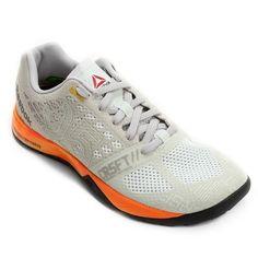 Obtenha o máximo de conforto e proteção com o Tênis Reebok Crossfit Nano 5.0 Branco e Laranja! Com nova entressola NanoShell oferece suporte para o pé em movimentos mediais, laterais e de levantamento de peso.   Netshoes