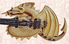 Lightening Dragon Guitar Hand Carved Musical Art http://violinguitarmaker.com/