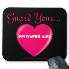 Guard Your Heart Agrainofmustardseed.com Pink Heart Mouse pads.  Great for gift giving! Add name or initials to any gift 4Free!