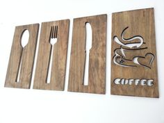 routered wood wall art