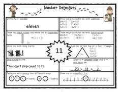 This is a number sense activity that I use for homework, centers, and a general number study!...