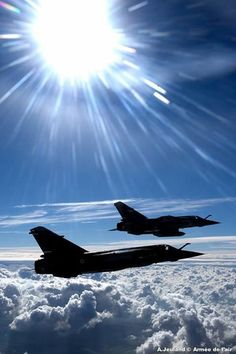 A pair of Dassault Mirage Bomber Plane, Jet Plane, Military Jets, Military Aircraft, Air Fighter, Fighter Jets, Jas 39 Gripen, Dassault Aviation, F22 Raptor