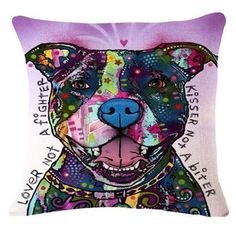 Cool modern art dog throw pillows