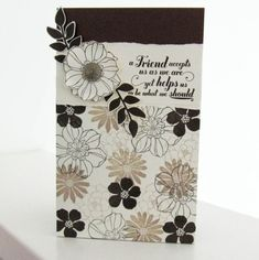 Notepad Cover Video Tutorial with Matching Cards using the Stampin' Up! Secret Garden Stamp Set