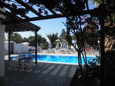 Villa Clio || Only 200 metres from the black lava sand beach of Perissa in Santorini, Villa Clio offers a swimming pool and snack bar.