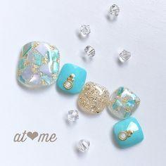 春/夏/海/リゾート/フット - at meのネイルデザイン[No.4255565] ネイルブック Pretty Toe Nails, Cute Toe Nails, Toe Nail Art, Gorgeous Nails, Chic Nail Designs, Toe Nail Designs, Summer Toe Nails, Beach Nails, Chic Nails