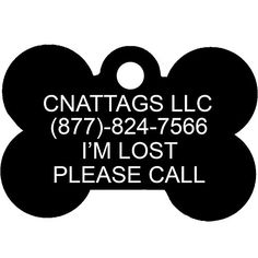 Black Bone Pet ID Tags  7 Fonts to Choose  by CNATTAGS LIFE TIME WARRANTY -- Click image to review more details.