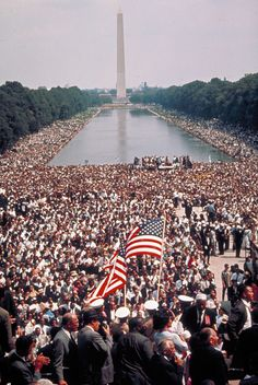 the march on Washington estimations were that 200,000 to 300,000 were there to march.The march is widely credited with helping to pass the Civil Rights Act (1964)