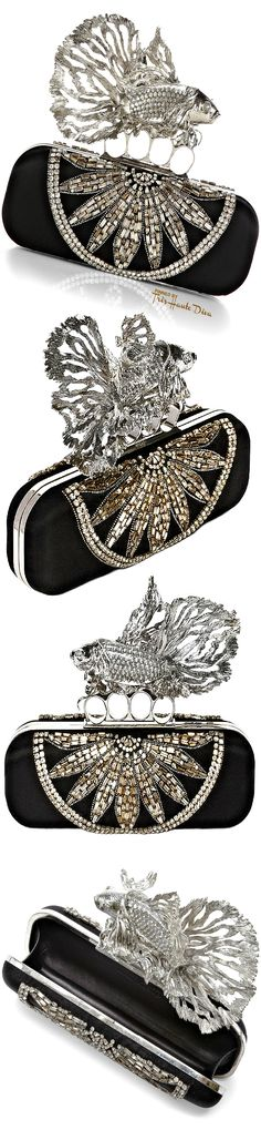 Alexander McQueen Embellished Fish Clutch  — Très Haute Diva