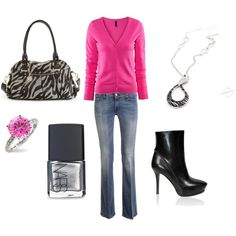 Zebra & pink - Love this!!