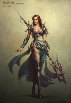 Sorceress - Project ACE, Hanchae Moon on ArtStation at https://www.artstation.com/artwork/sorceress-project-ace
