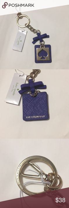 Kate Spade cut out keychain NWT kate Spade cut out spade keychain. Color is nightlife blue. kate spade Accessories Key & Card Holders