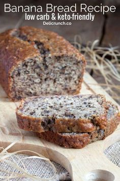 Best Low Carb Banana Bread (keto-friendly) Easy and healthy banana bread recipe. Low carb and keto friendly bread using banana.Easy and healthy banana bread recipe. Low carb and keto friendly bread using banana. Healthy Bread Recipes, Banana Bread Recipes, Low Carb Recipes, Flour Recipes, Diabetic Banana Bread Recipe Stevia, Cheese Recipes, Recipes With Almond Flour, Diabetic Bread, Paleo Banana Muffins
