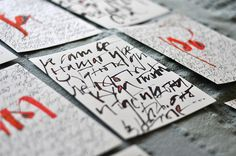 U stvari - calligraphy exhibition by Jelena Senicic Vilimanovic