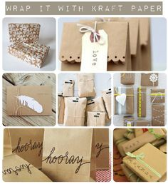 Do this: kraft paper gift wrap