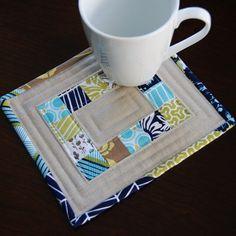 Pin. Sew. Press.: Modern Meadow Mug Rug Madness!