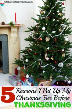 When should you put up your Christmas tree? There is some debate about putting your Christmas tree up before Thanksgiving! Take a look at some fun reasons to put up your Christmas tree EARLY!!