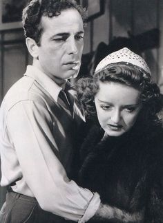 Humphrey Bogart and Bette Davis in a production still from Dark Victory  (Edmund Goulding, 1939) SUCH a good movie