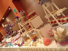 I like this idea with assortment of delicious sweets!