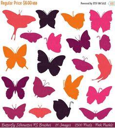 La moitié hors vente papillon Silhouettes Photoshop par PinkPueblo