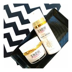 Snow Skincare Aura Whitening Booster Mask and Absolute Aura White