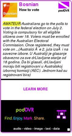 #AMATEUR #PODCAST  Bosnian    How to vote    LISTEN...  http://podDVR.COM/?c=8005f6be-e48f-9530-2ea6-5a6913f76cfa